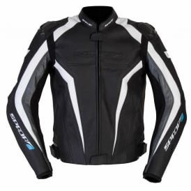 Spada Leather Jackets Corsa GP Black/White/Anth