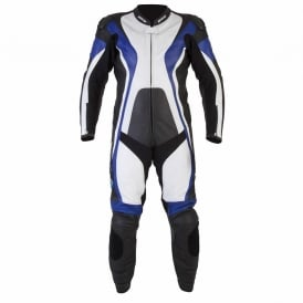 Spada Leather Suit 1 piece Curve Black/Blue/White