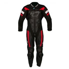 Spada Leather Suit 1 piece Curve Evo Black/Fire Red