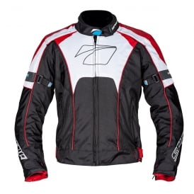 Spada Textile Jacket Burnout Blk/Red/White