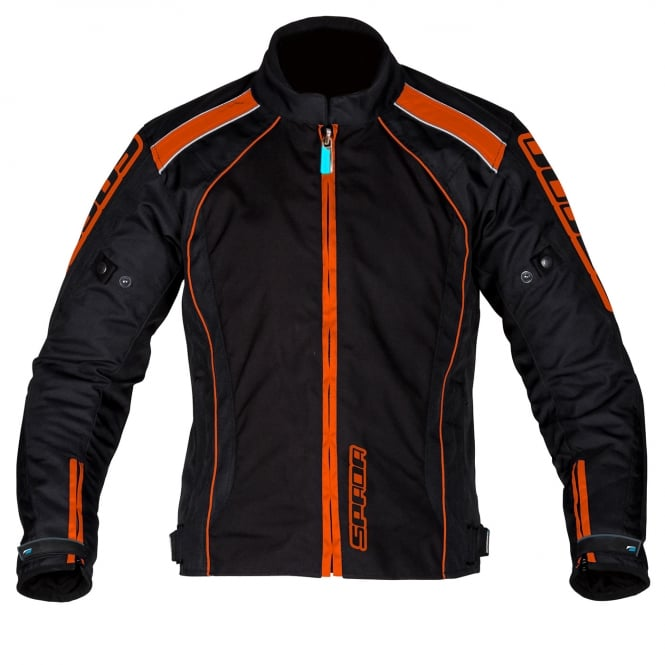 Spada Textile Jacket Plaza WP Black/KTM Orange