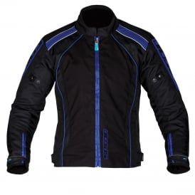 Spada Textile Jacket Plaza WP Black/Yam Blue